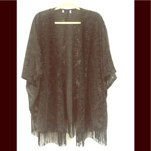 Burnout velvet shawl from UrbanOutfitters fits M/L